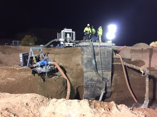 "emergency-repairs on the 144"" water main pipeline"