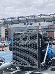pump in front of Gillette stadium