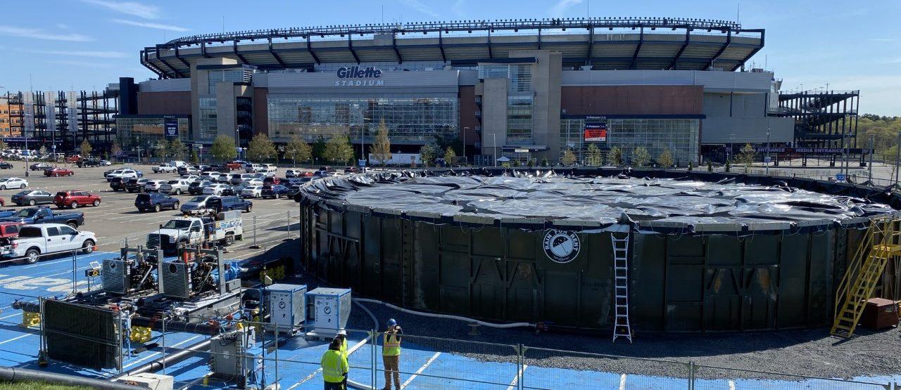 Laketank in front of Gillette stadium
